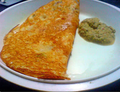 Adai with Chutney - Onion Adai