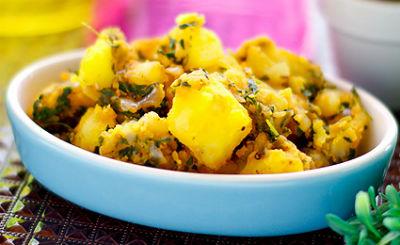 Potato and Methi Bhaji
