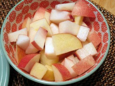 Apple and Peach Salad