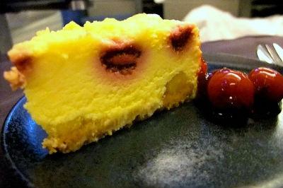 Apple and Raspberry Cheesecake