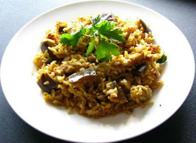 Brinjal Rice - South Indian Brinjal Rice