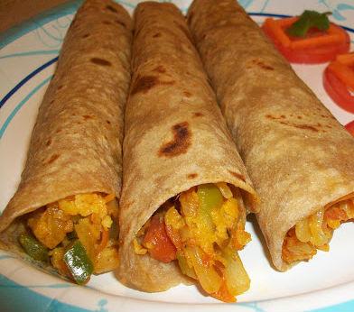 Paneer Chapati Roll