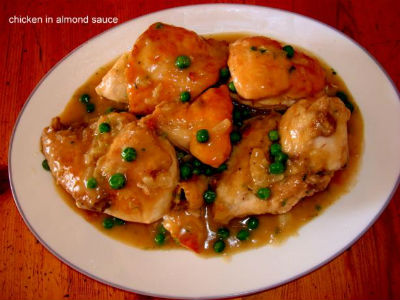 Chicken Almond Sauce - Chicken with Almond Sauce