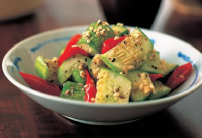 Simple Cucumber Salad with Sesame Dressing