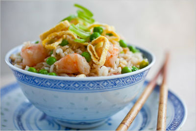 Fried Rice Shrimp Peas - Fried Rice with Shrimp and Peas
