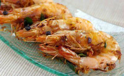 Ginger Garlic Prawns