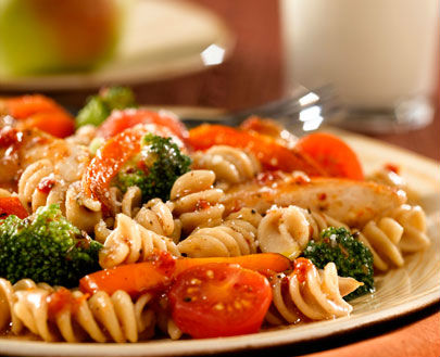Grilled Chicken and Mixed Vegetable Pasta