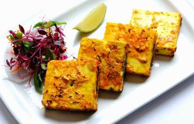 Paneer Taash Kabab - Grilled Paneer