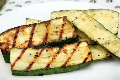 Grilled Zucchini - Grilled Zucchini with Lemon and Garlic