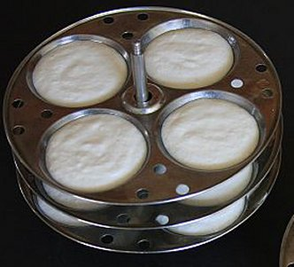 Idli Plates with Batter