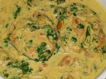 Kerala style Fish cooked in Coconut Milk