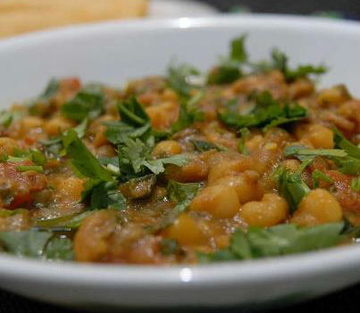 Lamb with Chickpeas - Lamb with Chickpeas (Mangsho Ghugni)