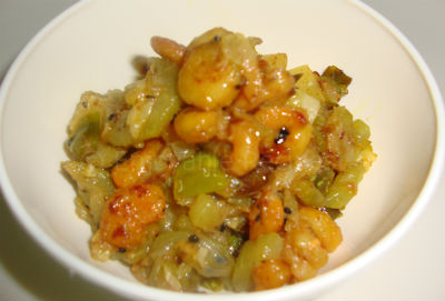 Shrimps with Bottle Gourd