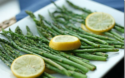 Lemon Roasted Asparagus - Lemon Roasted Asparagus
