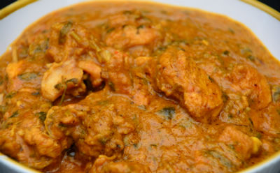 Chicken Curry with Fenugreek Leaves