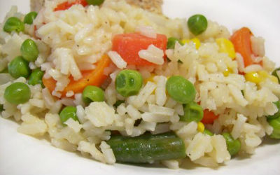 Mint Mixed Vegetable Rice - Mint Mixed Vegetable Rice