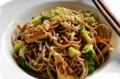 Noodles Peanut Dressing - Noodles with Peanut Dressing