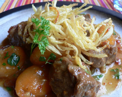 Parsi style Lamb with Dried Apricots