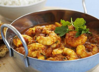 Kerala style Prawn Curry with Papaya and Coconut Milk