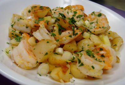 Prawns with Potatoes - Parsi Prawns with Potatoes