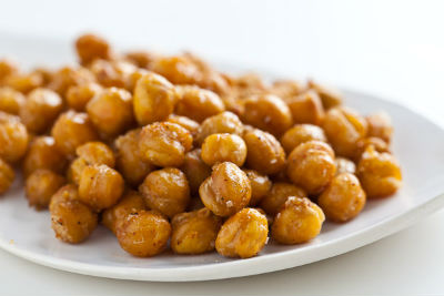Roasted Chickpeas - Crunchy Curried Chickpeas