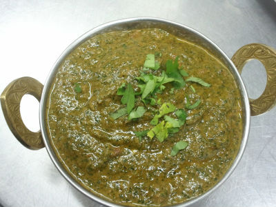 Saag Meat / Lamb cooked in Spinach Sauce