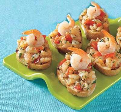 Shrimp bruschetta - Shrimp Bruschetta