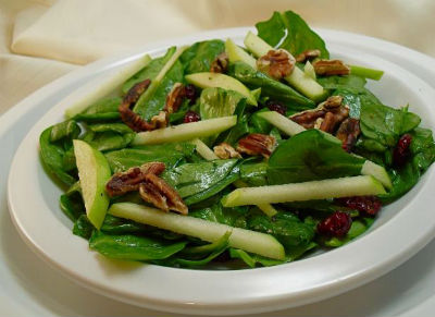 Spinach Green Apple Salad - Spinach and Green Apple Salad