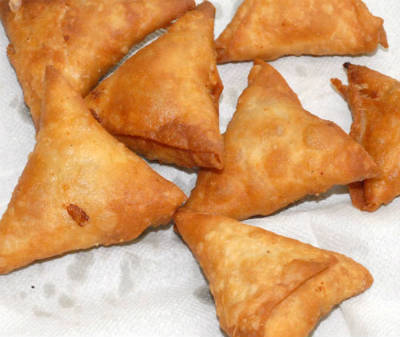 Spinach and Vegetable Samosa