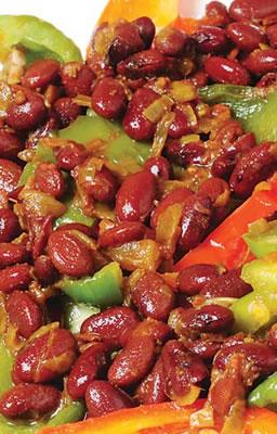Stir-Fried Capsicum and Rajma