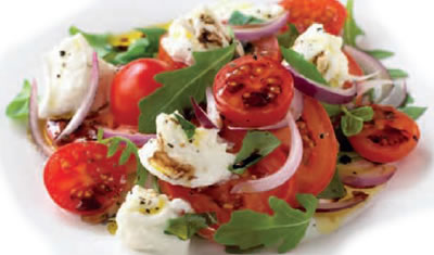 Tomato, Red Onion and Mozzarella Salad