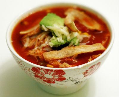 Tomato Tortilla Soup - Tomato Tortilla Soup