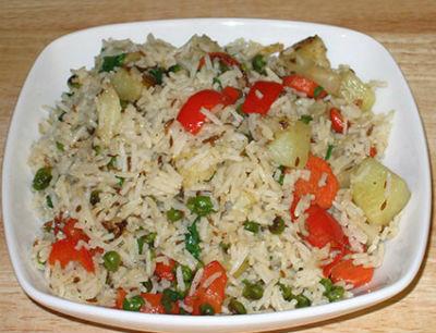 Vegetable Pulao - Vegetable Pulao