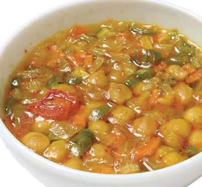 Vegetable Soup Chickpeas - Vegetable Soup with Chickpeas