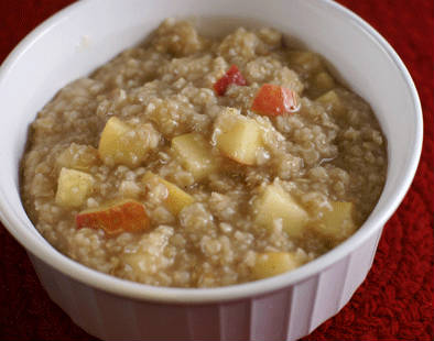 Cinnamon Apple Spiced Oatmeal Recipe — Dishmaps
