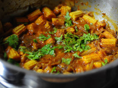 baby corn masala - Egg and Baby Corn Masala