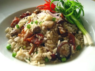 Bacon and Mushroom Fried Rice