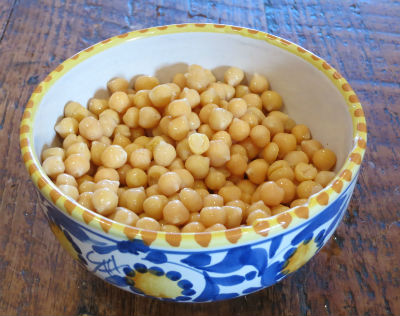 boiled chickpeas - Chickpeas with Mushrooms