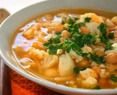 Cauliflower and Pasta Soup