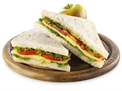 cheese sandwich - Green and Red Sandwich