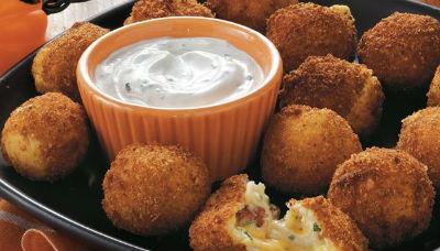 cheesy potato balls - Cheesy Potato Balls