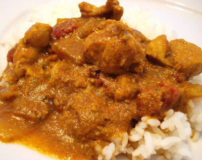 Chicken Kuzhambu with Coconut Milk
