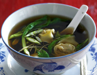 Chicken and Prawn Wonton Noodle Soup