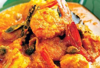 chingri malai prawns - Chingri Malai Prawns