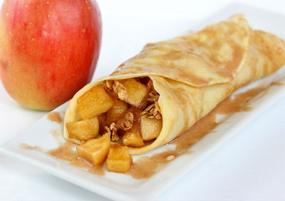 cinnamon apple crepe - Cinnamon Apple Crepes