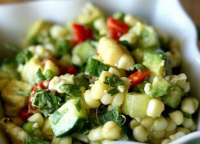 corn avocado salad - Grilled Corn and Avocado Salad