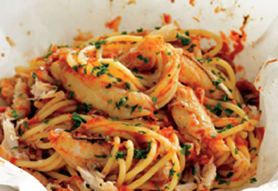 Crab Spaghetti Recipe Awesome Cuisine