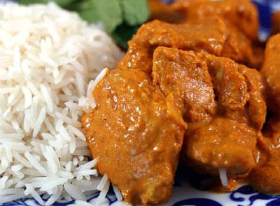 Curd Masala Chicken with Rice