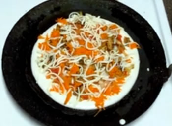 Vegetable Dosa Pizza