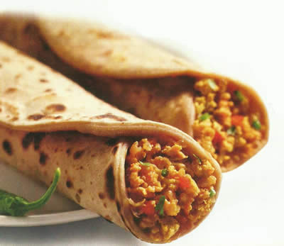 Egg Bhurji Roll